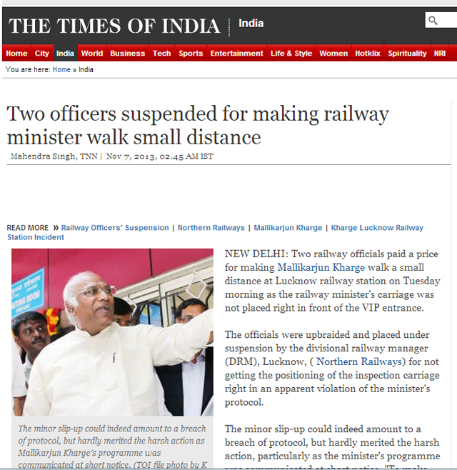 An incident at the railways station